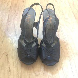 Black Jellypop Slingback Heels Sz 9